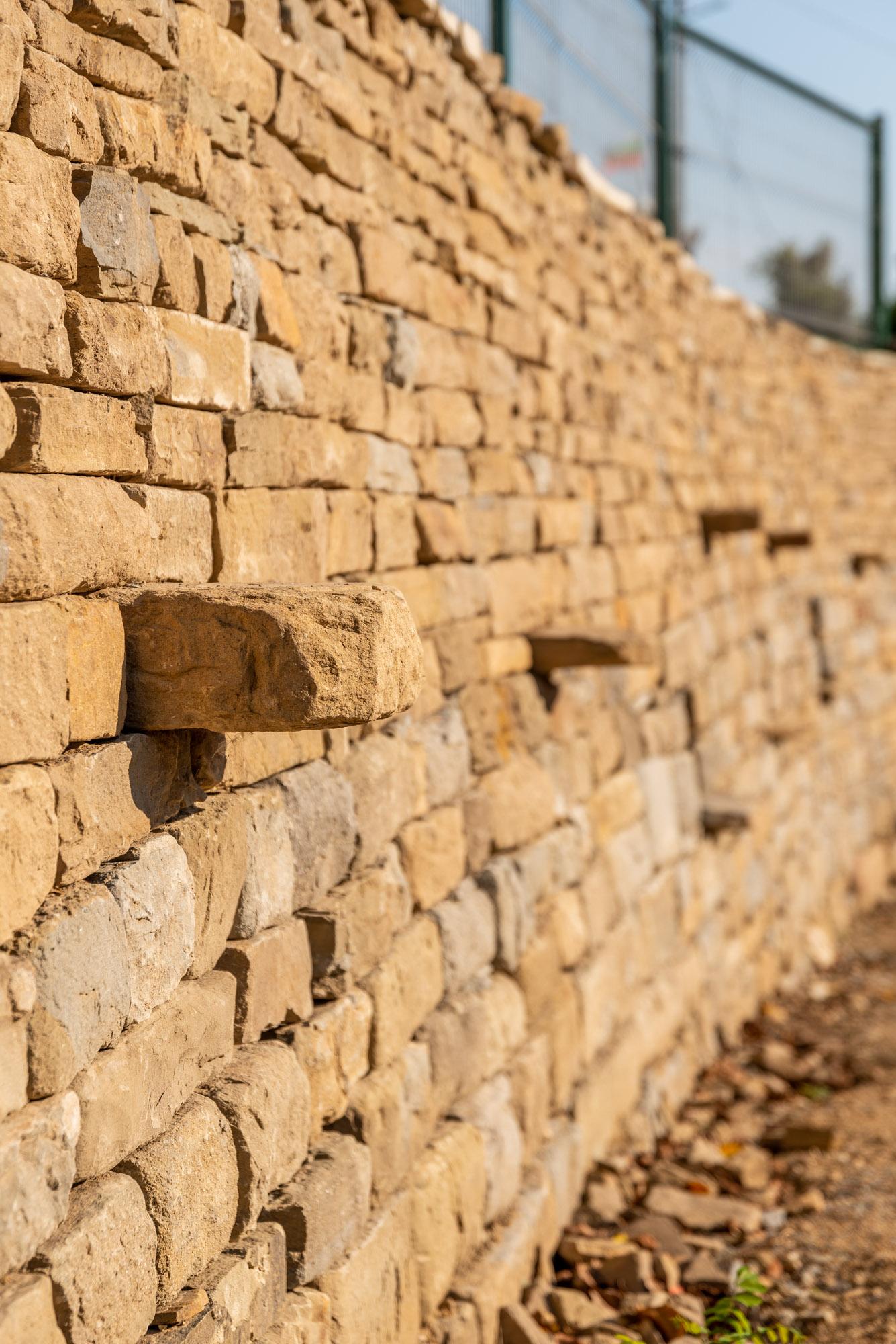 Суха зидария - подпорна стена